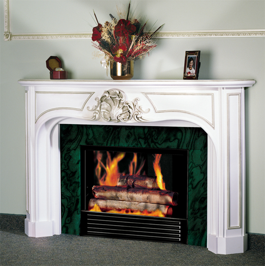 1942C Fireplace Mantel in Gypsum Cement
