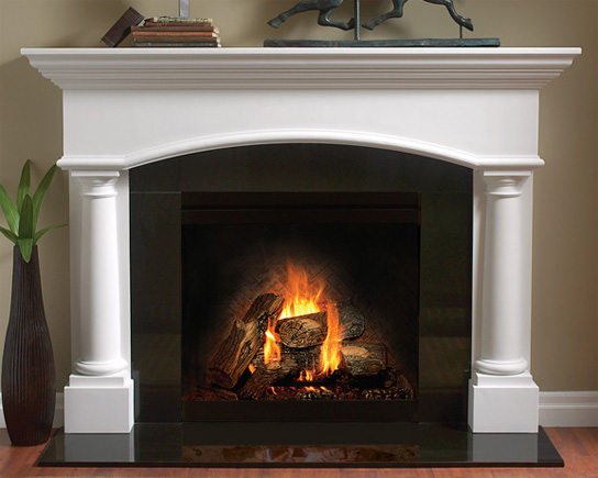 4114 Fireplace Mantel in Gypsum Cement