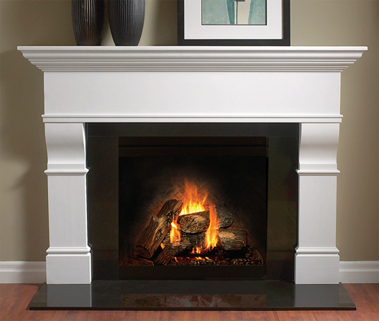 4116 Fireplace Mantel in Gypsum Cement